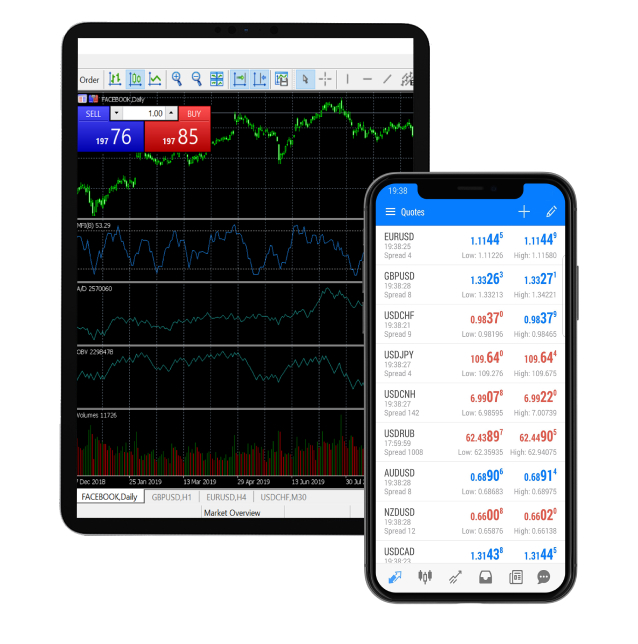 Errante trading on tablet and android